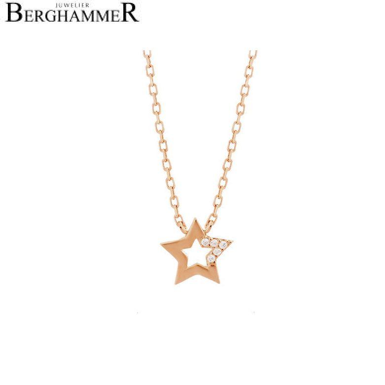 LaViida Halskette Stern 925 Silber roségold vergoldet NLU620RG 40500028