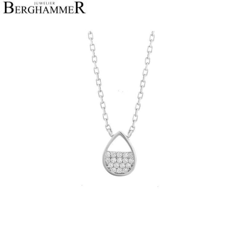 LaViida Halskette Tropfen 925 Silber rhodiniert NLU621RH