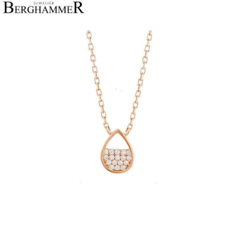 LaViida Halskette Tropfen 925 Silber roségold vergoldet NLU621RG