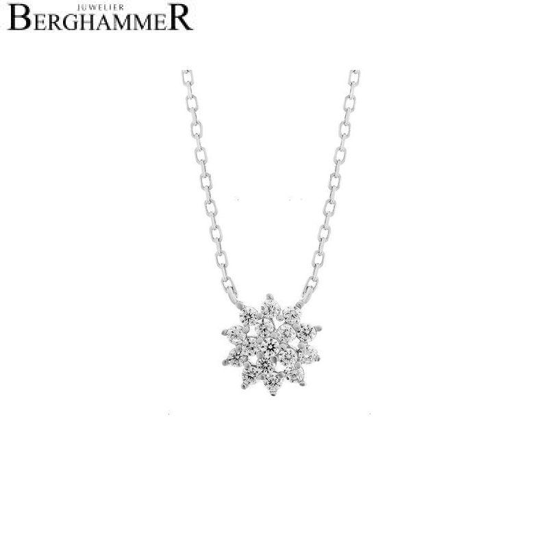 LaViida Halskette Blume 925 Silber rhodiniert NLU622RH