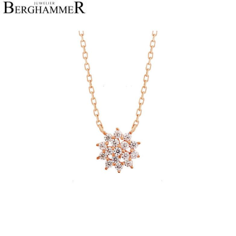 LaViida Halskette Blume 925 Silber roségold vergoldet NLU622RG
