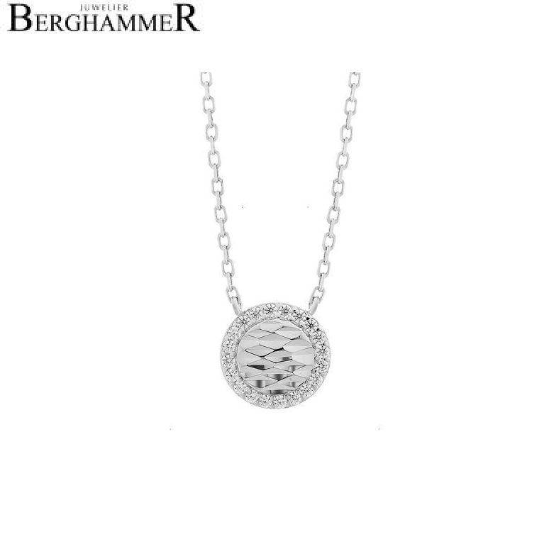 LaViida Halskette Shine 925 Silber rhodiniert NLU623RH