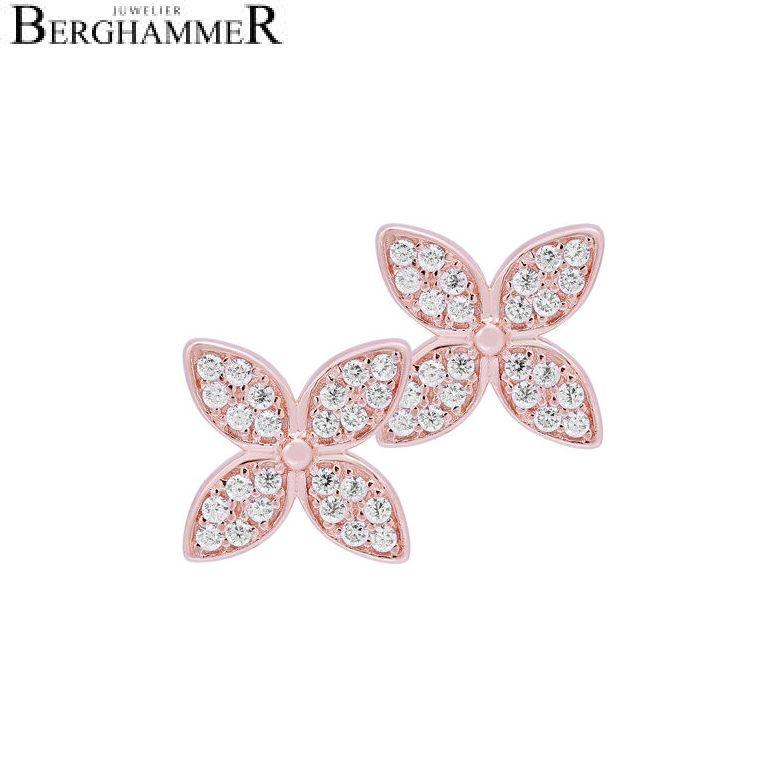 LaViida Ohrschmuck Blume 925 Silber roségold vergoldet ELU626RG 40500040