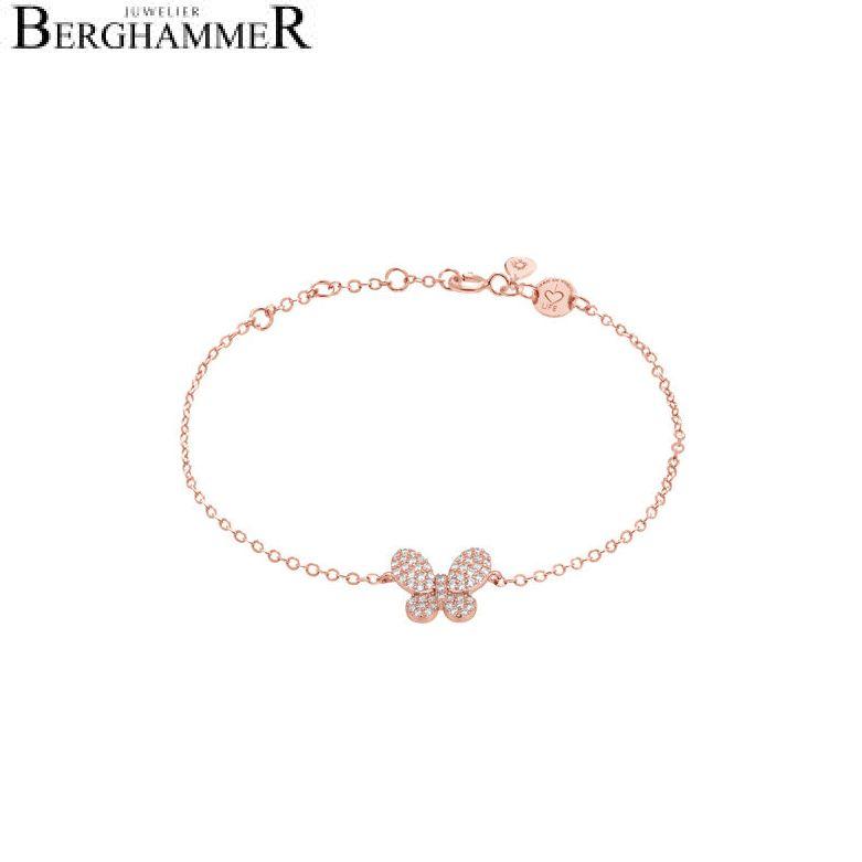 LaViida Armband Schmetterling 925 Silber roségold vergoldet BLU625RG