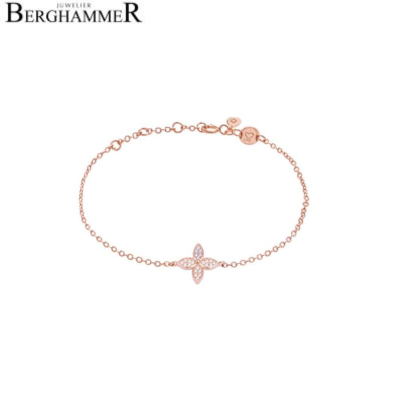 LaViida Armband Blume 925 Silber roségold vergoldet BLU626RG