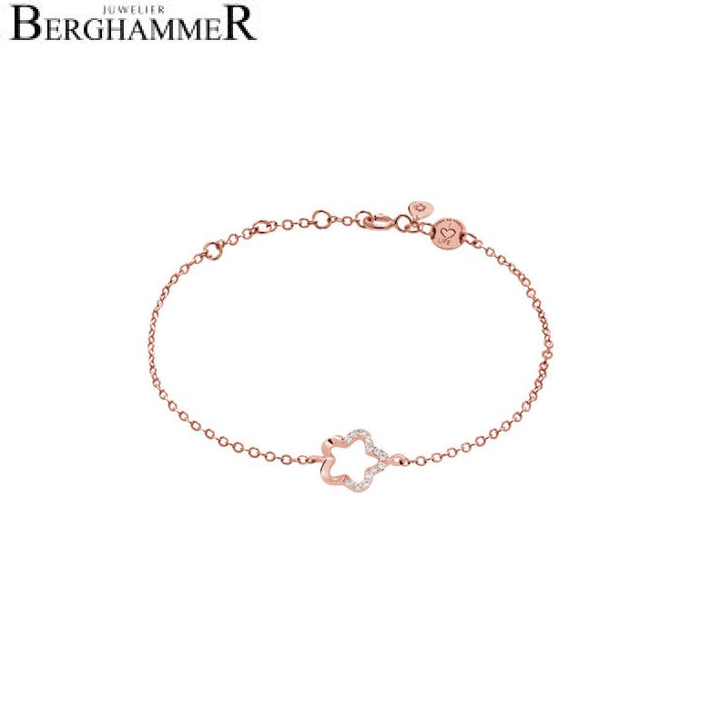 LaViida Armband Floral 925 Silber roségold vergoldet BLU627RG 40500048
