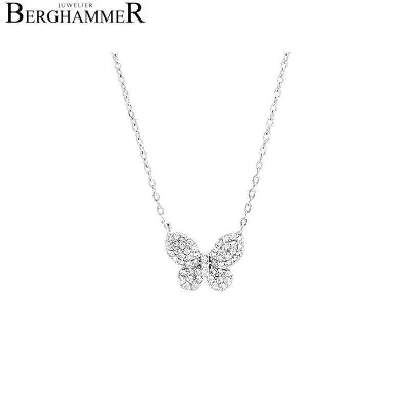 LaViida Halskette Schmetterling 925 Silber rhodiniert NLU625RH