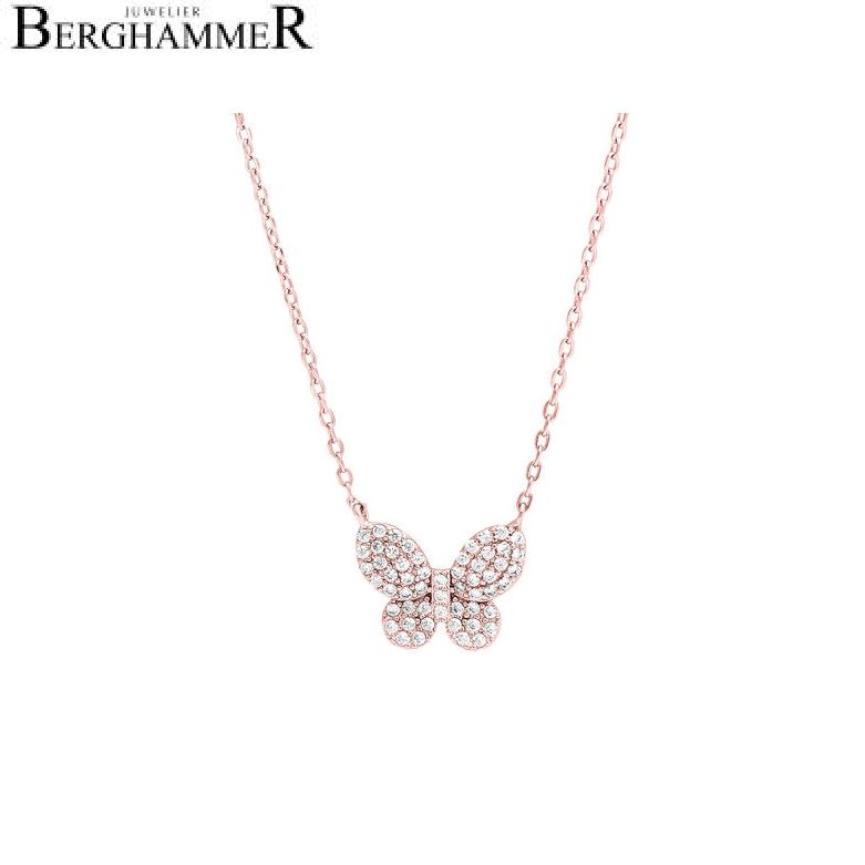 LaViida Halskette Schmetterling 925 Silber roségold vergoldet NLU625RG