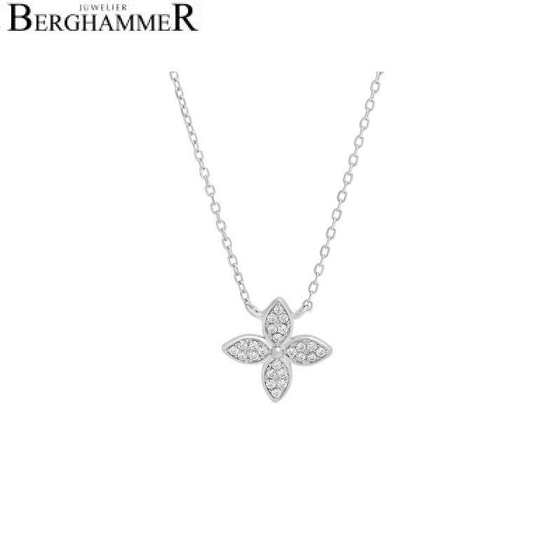 LaViida Halskette Blume 925 Silber rhodiniert NLU626RH