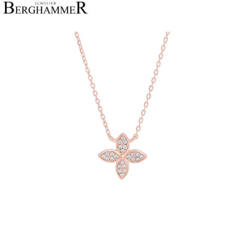 LaViida Halskette Blume 925 Silber roségold vergoldet NLU626RG