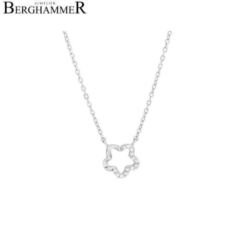 LaViida Halskette Floral 925 Silber rhodiniert NLU627RH 40500053