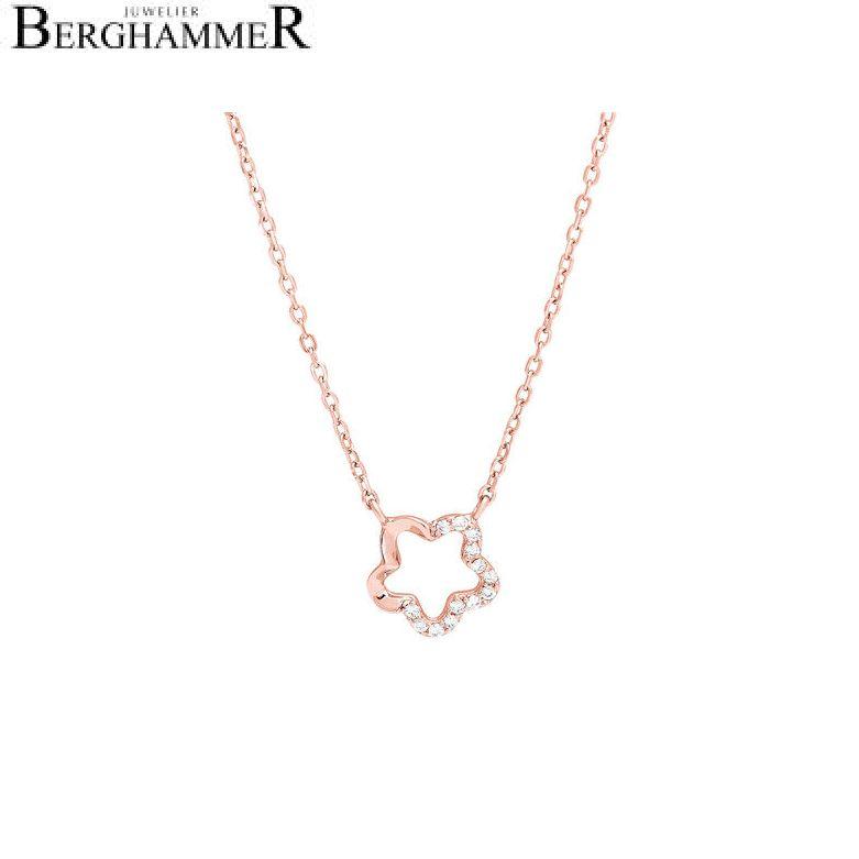 LaViida Halskette Floral 925 Silber roségold vergoldet NLU627RG 40500054