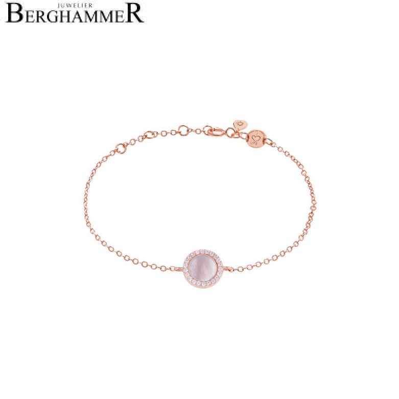 LaViida Armband Perlmutt 925 Silber roségold vergoldet BLU633RG 40500070