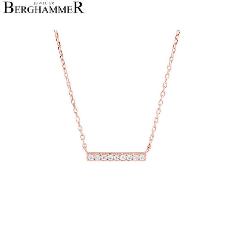 LaViida Halskette Line 925 Silber roségold vergoldet NLU634RG 40500078