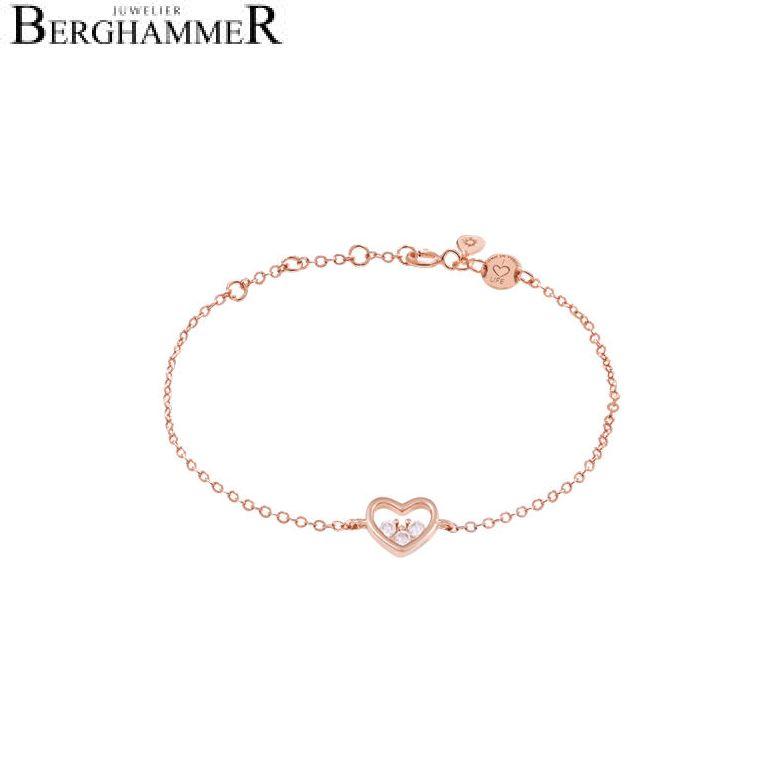 LaViida Armband Herz 925 Silber roségold vergoldet BLU635RG 40500082