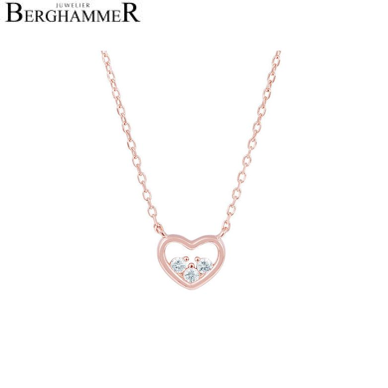 LaViida Halskette Herz 925 Silber roségold vergoldet NLU635RG 40500084