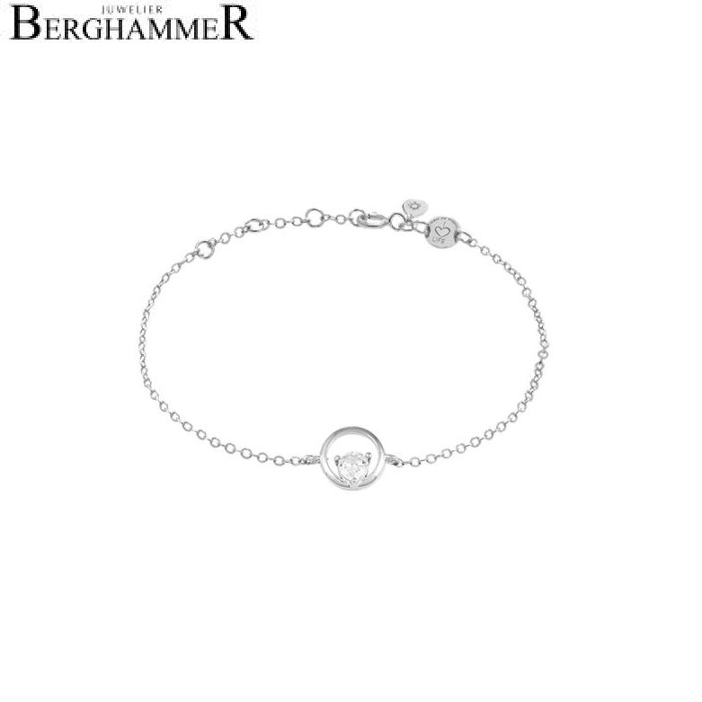 LaViida Armband Kreis 925 Silber rhodiniert BLU636RH 40500087