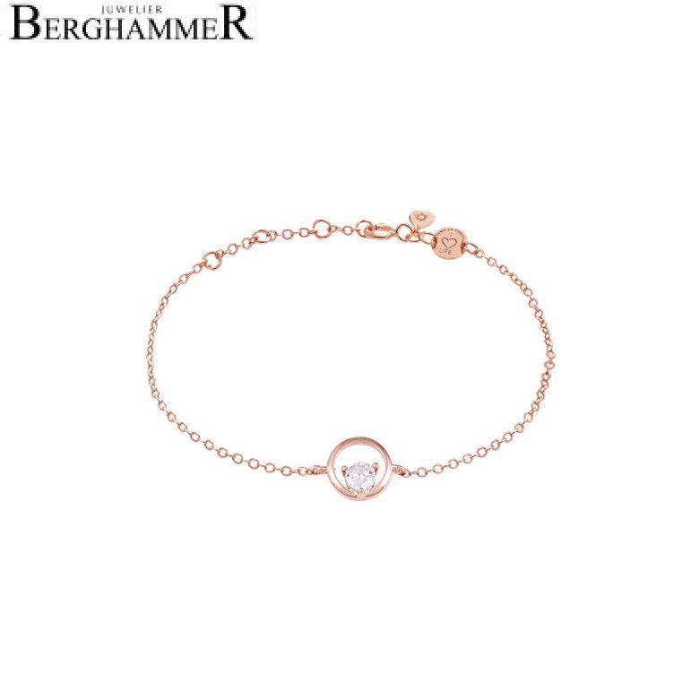LaViida Armband Kreis 925 Silber roségold vergoldet BLU636RG 40500088