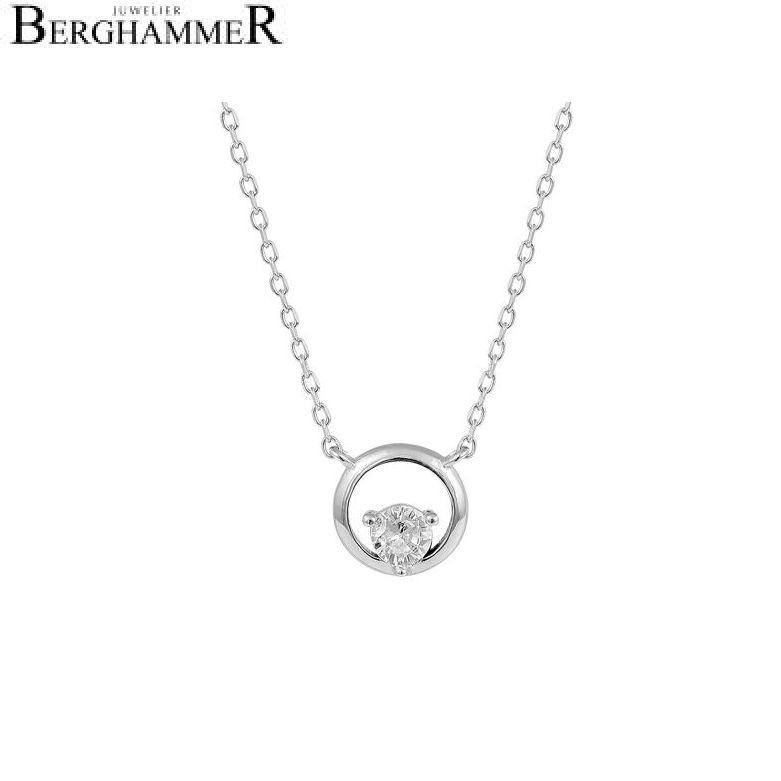 LaViida Halskette Kreis 925 Silber rhodiniert NLU636RH 40500089