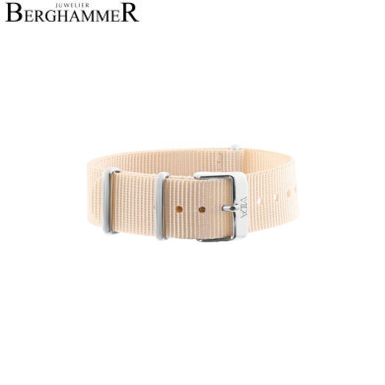 LaViida Uhrband Ibiza Silber Beige SIB1710S 40600010
