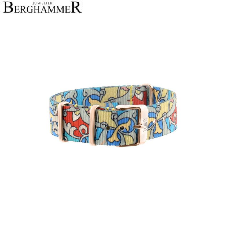 LaViida Uhrband Ibiza Roségold Bunt SIB1701R 40600011