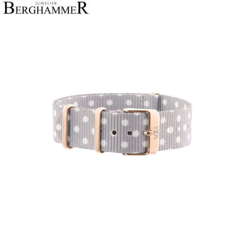 LaViida Uhrband Ibiza Roségold Hellgrau-weiß SIB1706R 40600016