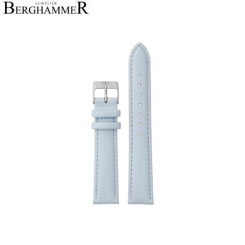 LaViida Uhrband Vienna Silber Hellblau SVI2014S 40900021