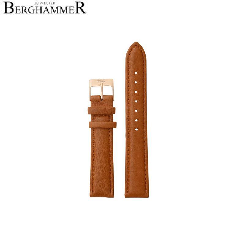 LaViida Uhrband Vienna Roségold Cognac SVI2012R 40900030