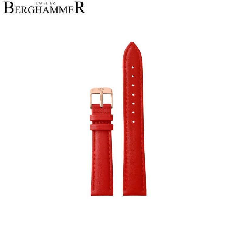 LaViida Uhrband Vienna Roségold Rot SVI2013R 40900031