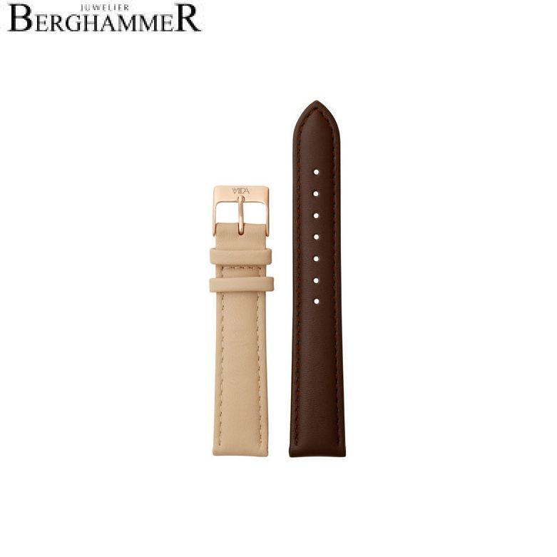 LaViida Uhrband Vienna Roségold Braun/Beige SVI2023R 40900049