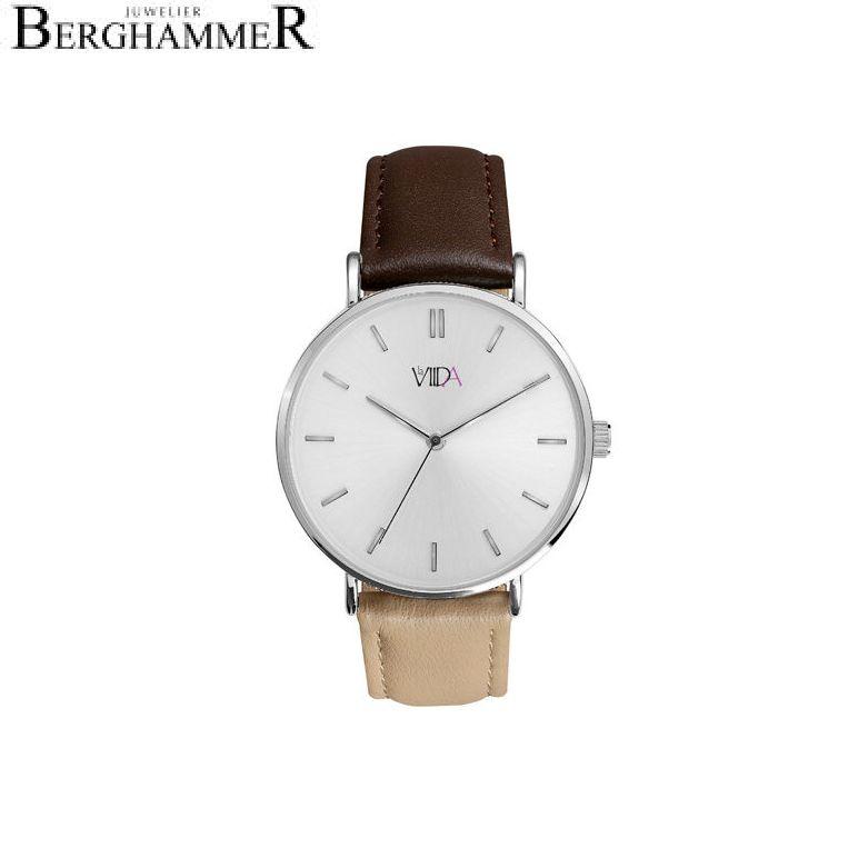 LaViida Damenuhr Vienna Silber Braun/Beige WVI2023S 41100065
