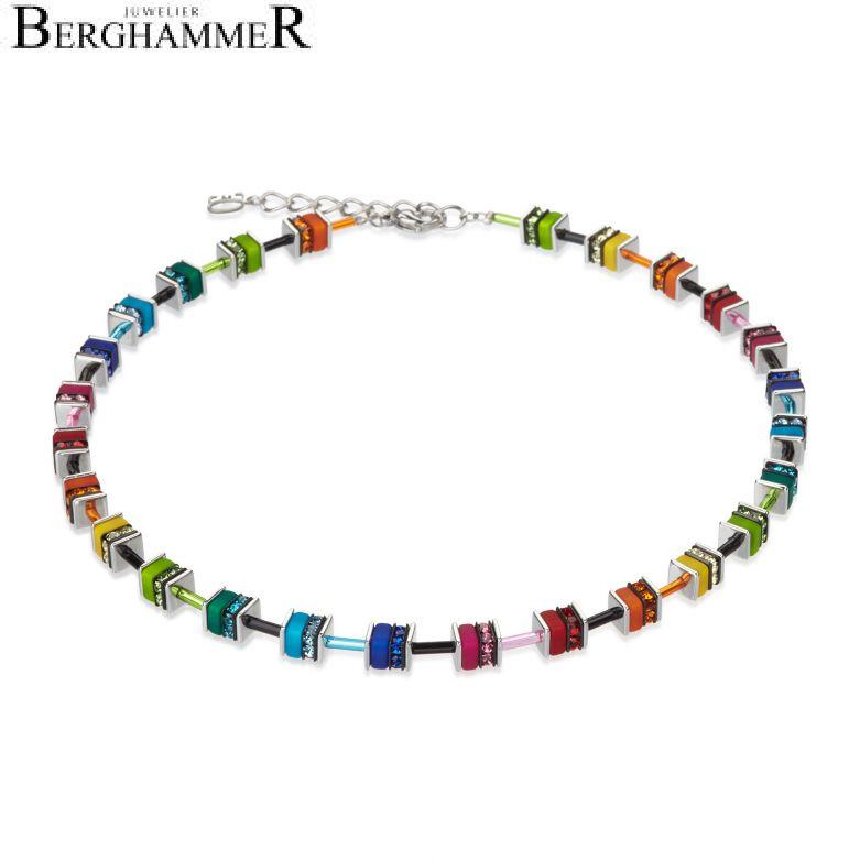 GeoCUBE® Halskette Swarovski® Kristalle small multicolor