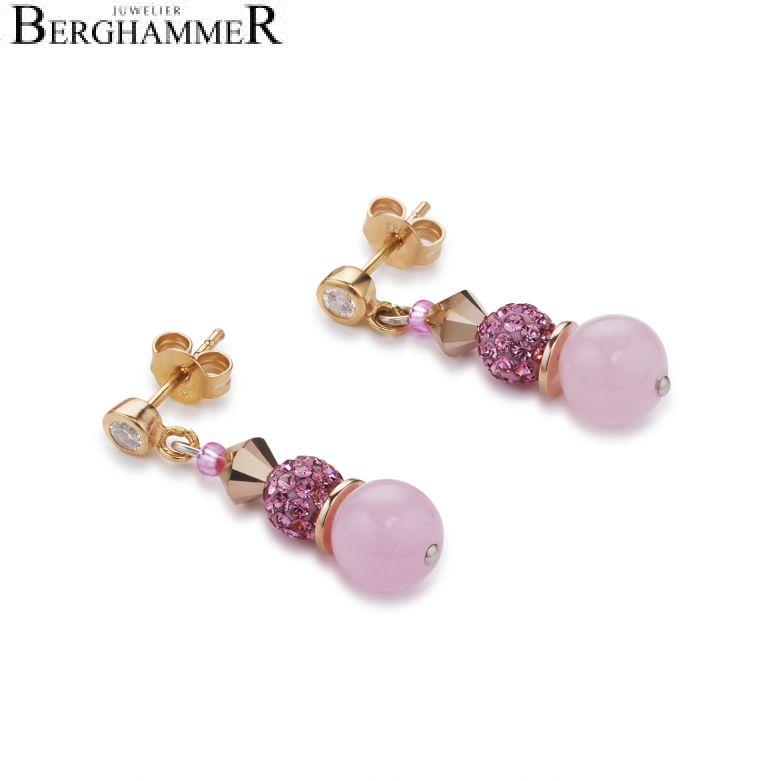 Ohrstecker frontline Swarovski® Kristalle & Crystal Pearls by Swarovski® & Bergkristall multicolor