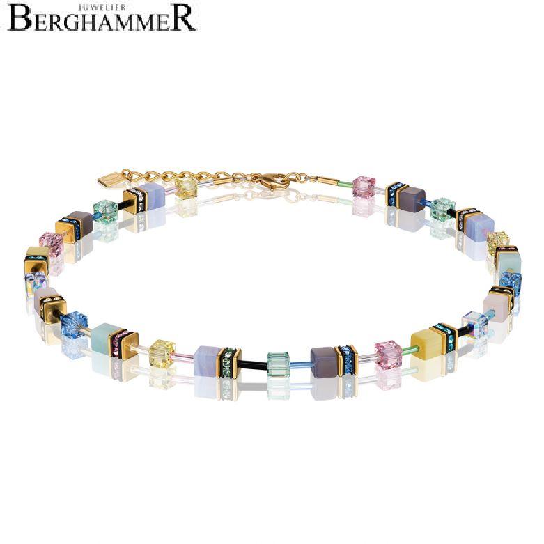 Halskette GeoCUBE® Swarovski® Kristalle & Edelsteine multicolor romance