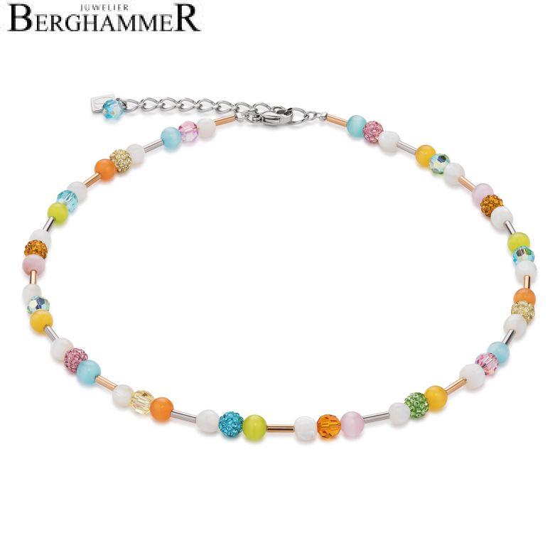 Halskette Swarovski® Kristalle & Perlmutt multicolor spring