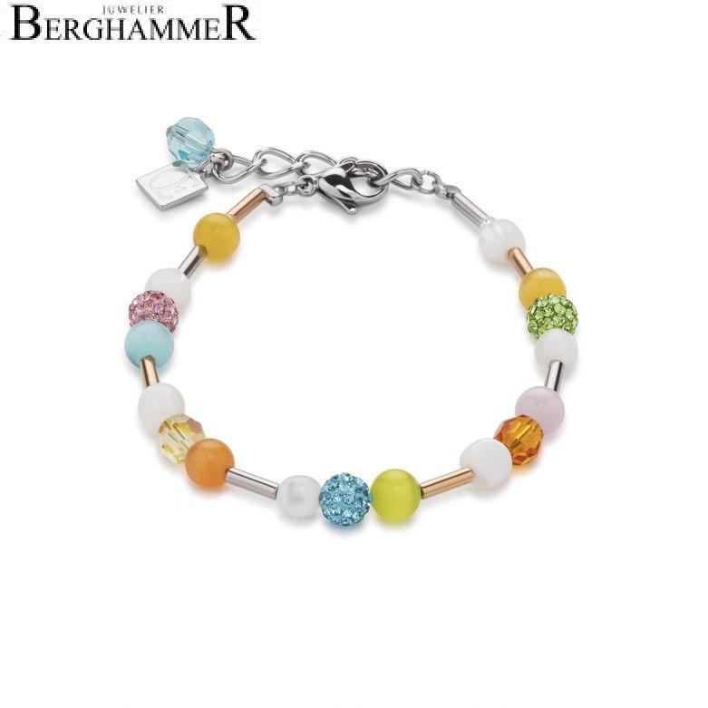 Armband Swarovski® Kristalle & Perlmutt multicolor spring