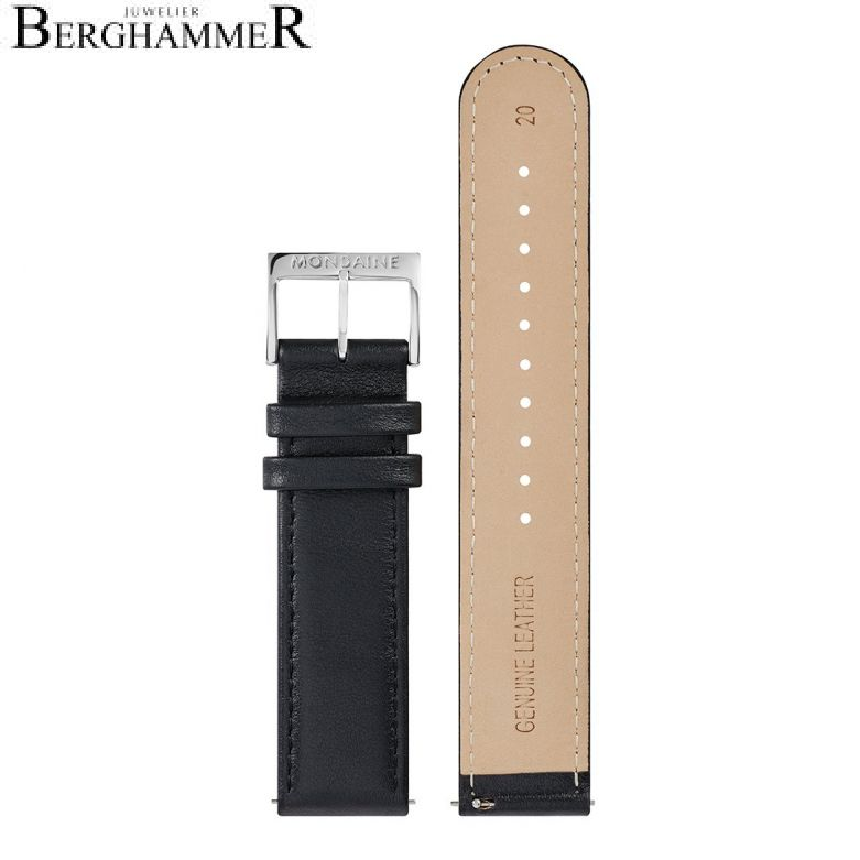 Mondaine Echtleder Armband, 20mm, FEM.16220.20Q.5.K