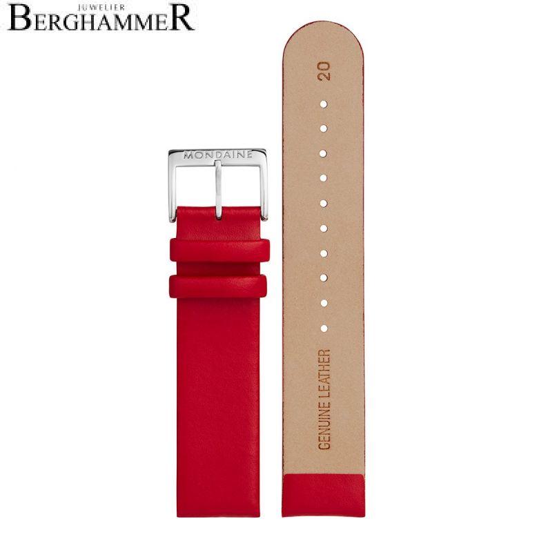 Mondaine Echtleder Armband, 20mm, FEM.16220.30Q.K