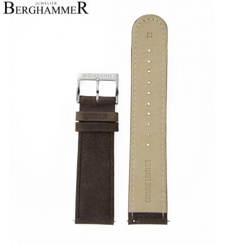 Mondaine Echtleder Armband, 22mm, FEM.16822.70Q.2.K
