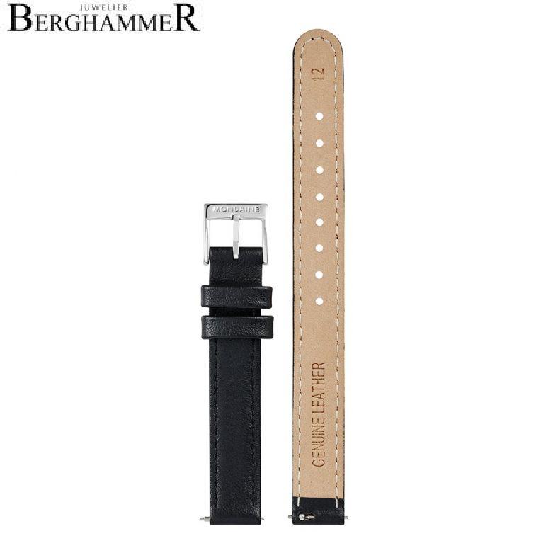 Mondaine Echtleder Armband, 12mm, FEM.3112.20Q.2.K