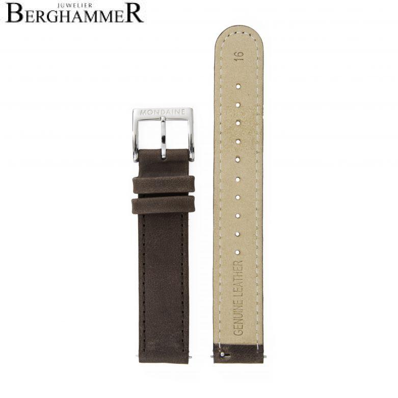 Mondaine Echtleder Armband, 16mm, FEM.3116.70Q.2.K