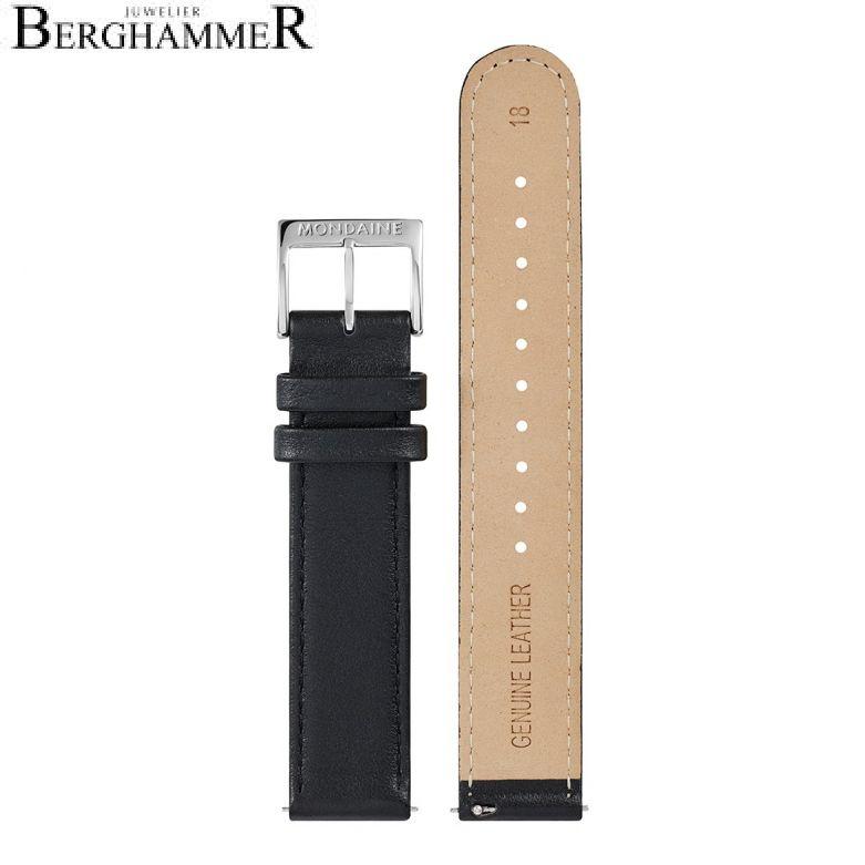 Mondaine Echtleder Armband, 18mm, FEM.3118.20Q.5.K