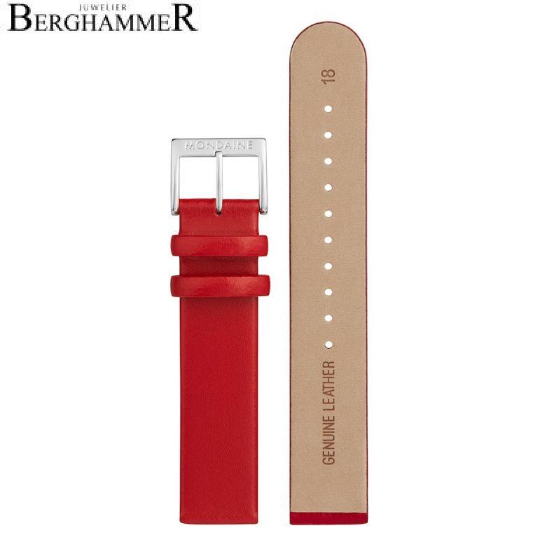 Mondaine Echtleder Armband, 18mm, FEM.3118.30Q.K