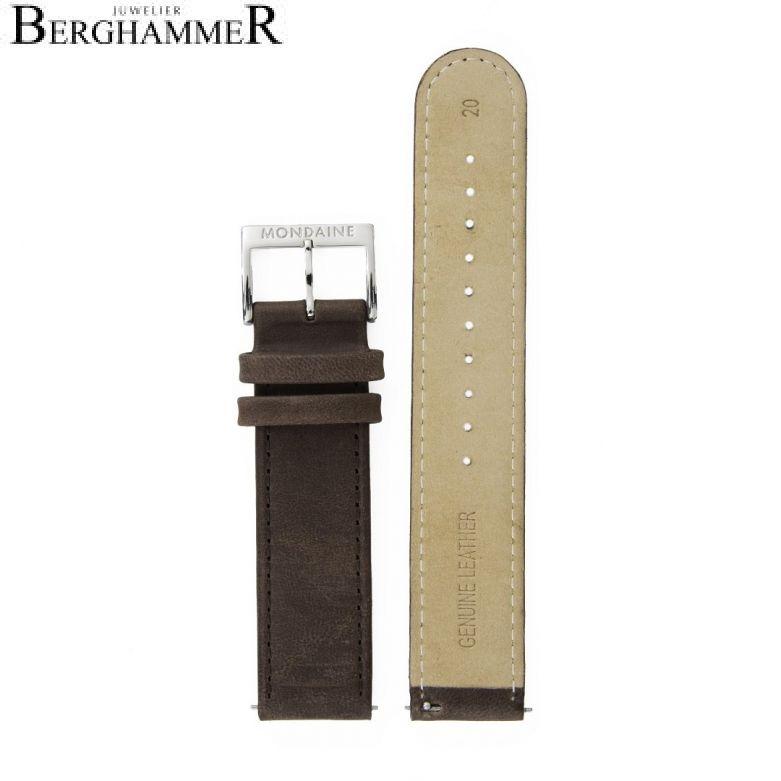 Mondaine Echtleder Armband, 20mm, FEM.3120.70Q.3.K