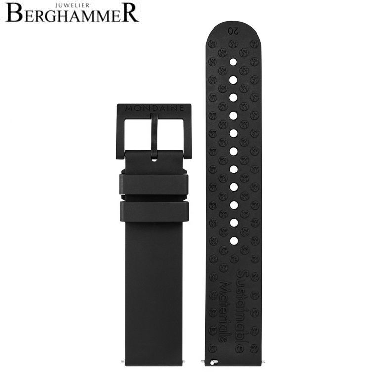 Mondaine Natur-Kautschuk Armband, 20mm, FPM.16920.22B.K