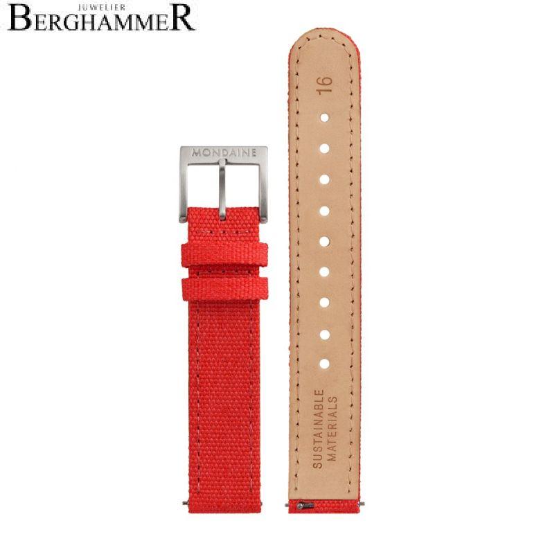 Mondaine Textil Armband, 16mm, FTM.3116.30Q.4.K