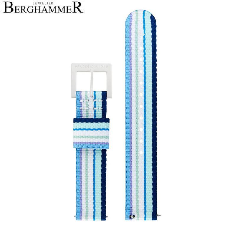 Mondaine Textilarmband aus recyceltem PET, 16mm, FTM.3116.40A.1.K