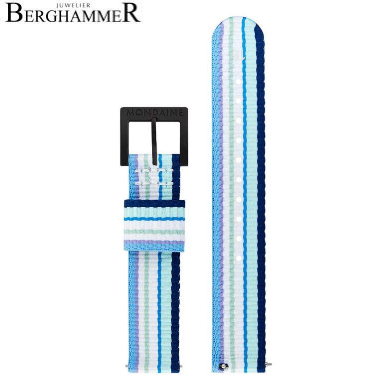 Mondaine Textilarmband aus recyceltem PET, 16mm, FTM.3116.40B.K