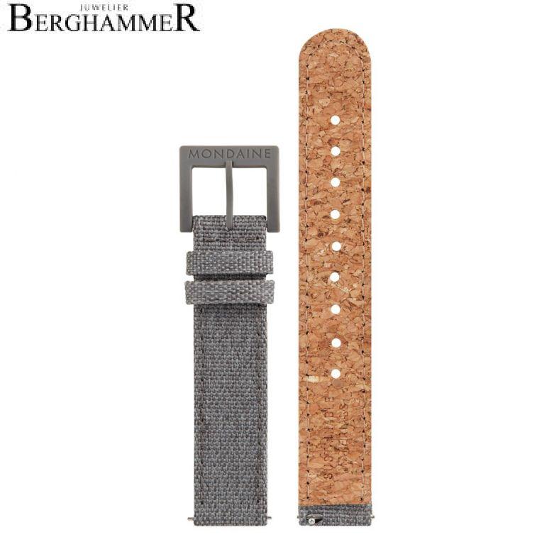 Mondaine Textil Armband mit Korkfütterung, 16mm, FTM.3116.80H.K