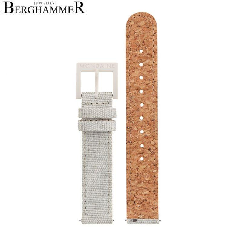 Mondaine Textil Armband mit Korkfütterung, 16mm, FTM.3116.80K.K